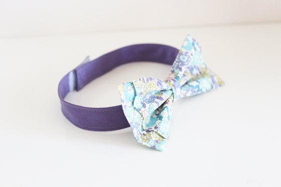 Image of Noeud Papillon Adulte en Liberty Michelle Lilas - SUR COMMANDE