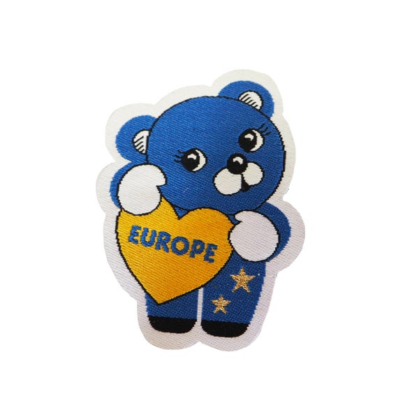 Image of Cute Europe Bear Iron on Patch