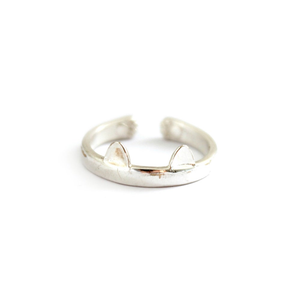 Image of EARS & PAWS RING - 925 STERLING SILVER