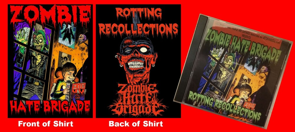 Image of Rotting Recollections shirt and CD bundle