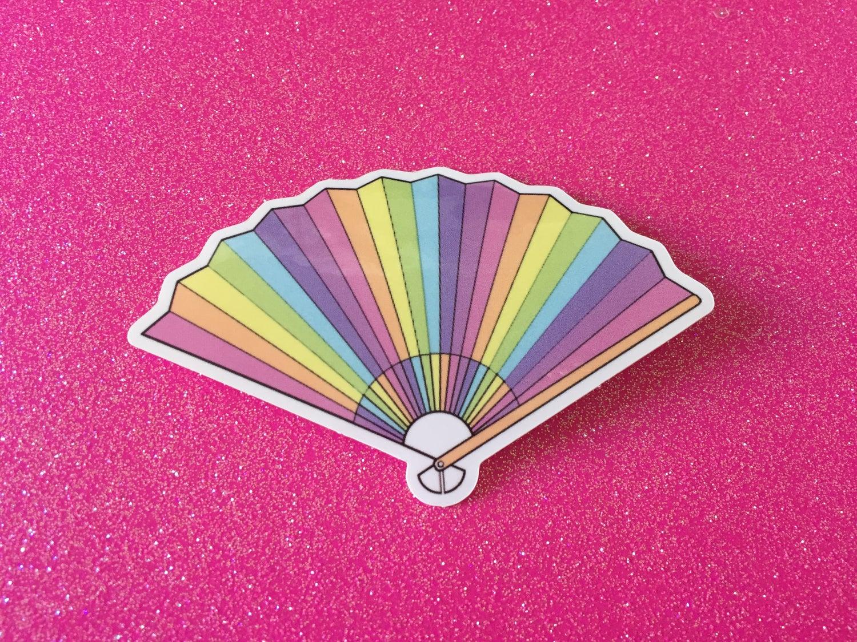 Image of Rainbow Fan Vinyl Sticker