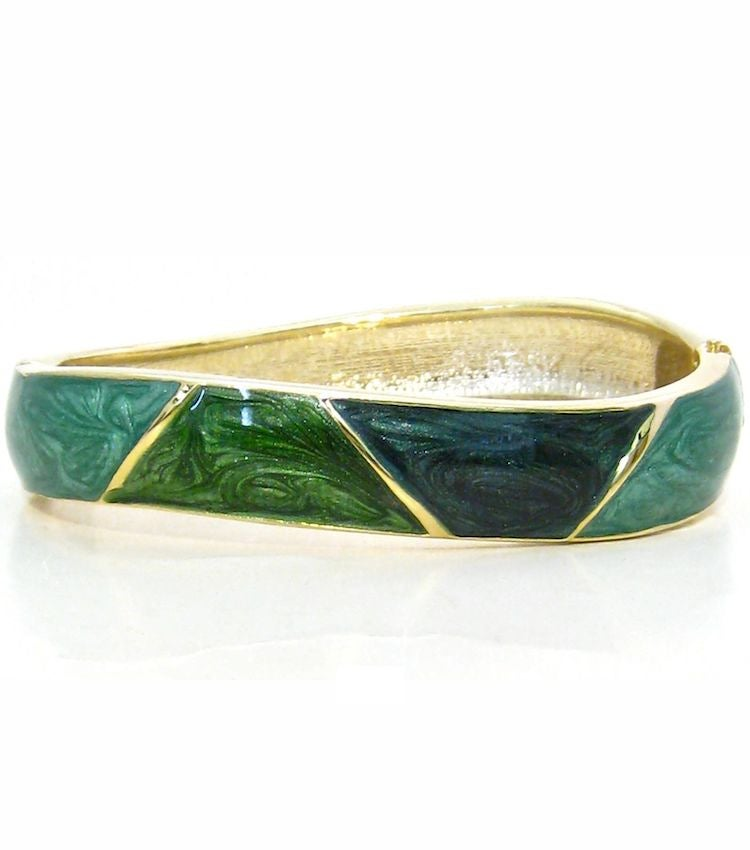 Image of Green Enamel Bangle