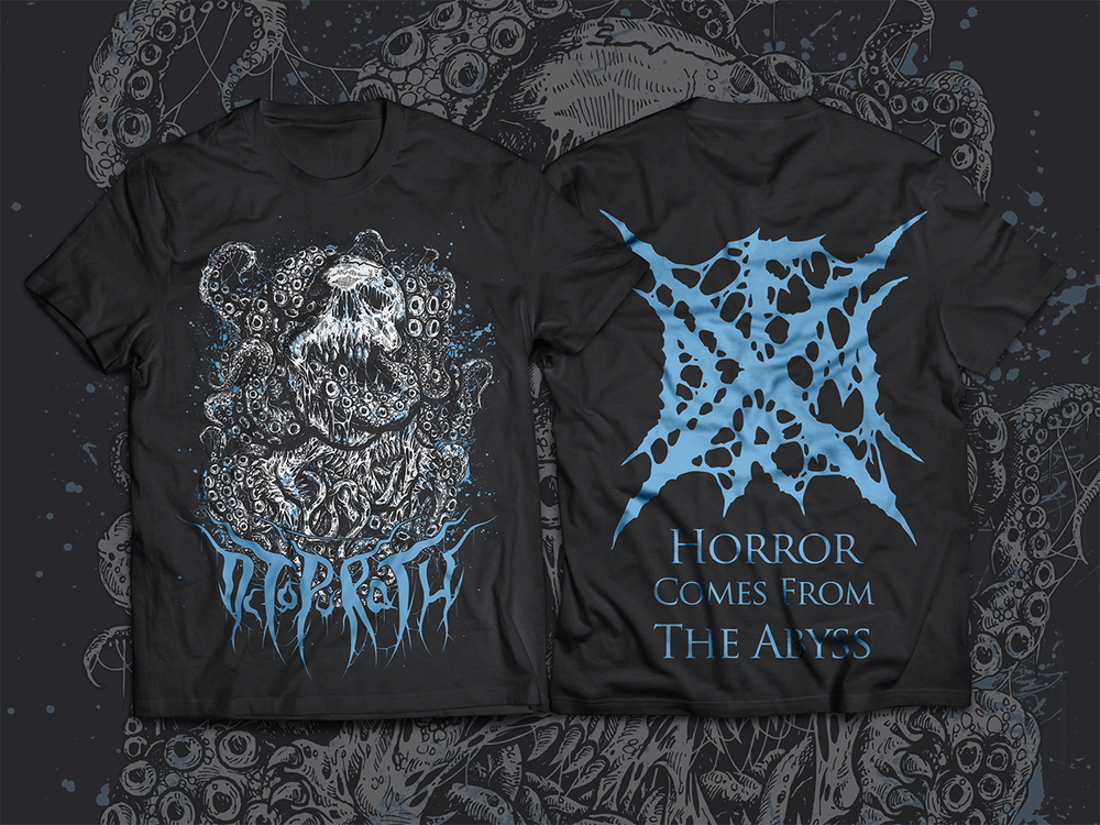 """Image of T-Shirt """"Horror Comes From The Abyss"""""""