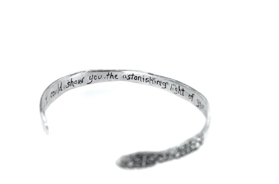 Image of Astonishing light cuff . Sterling silver