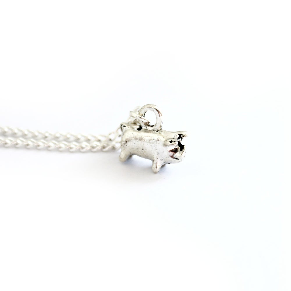 Image of TEENY PIG NECKLACE/BRACELET