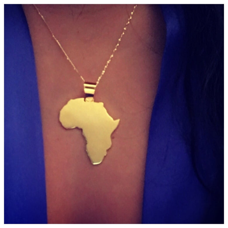 Image of I Love Africa necklace