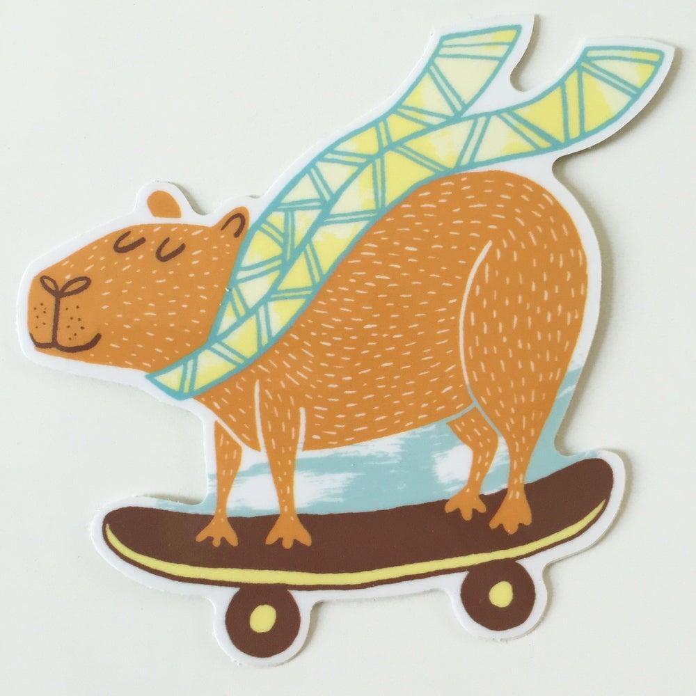 Image of Happybara Sticker