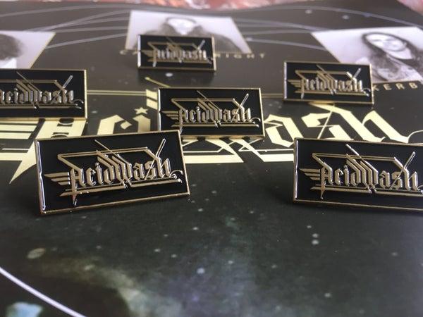 Image of Acid Wash logo enamel pin