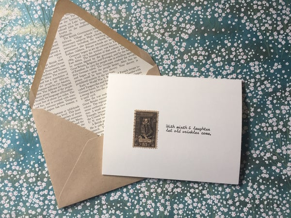 Image of Shakespeare Vintage Postage Greeting Card
