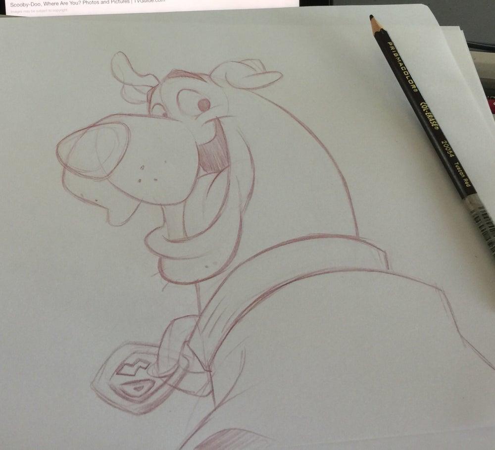 Image of Scooby Doo sketch
