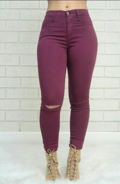 Image of Slit knee jeans (Sizes 8-13) (27-32)