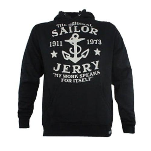Image of Sailor Jerry Men's 'My Work Speaks For Itself' Hoodie - Black