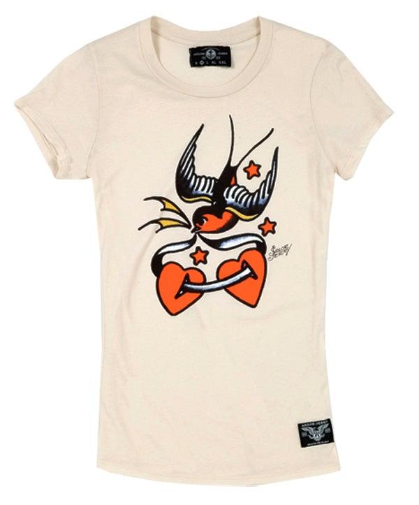Image of Sailor Jerry Women's T-Shirt - Love Bird