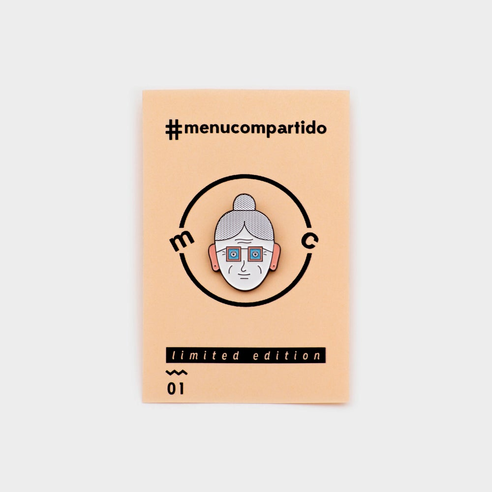 Image of ENAMEL PIN <b>Granny face</b>
