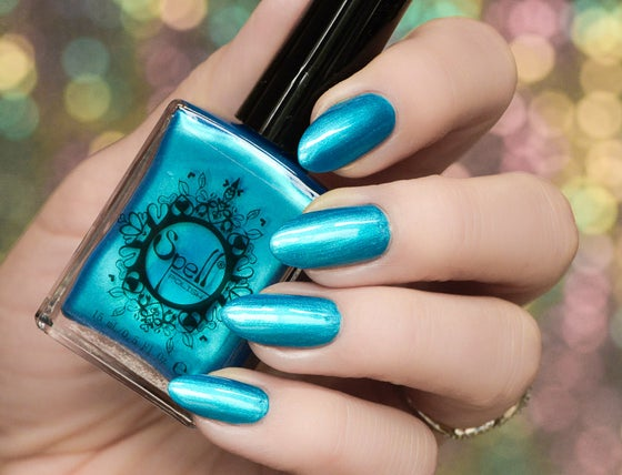 Image of ~The Edge of the Sky~ deep teal/turquoise chrome Spell nail polish!