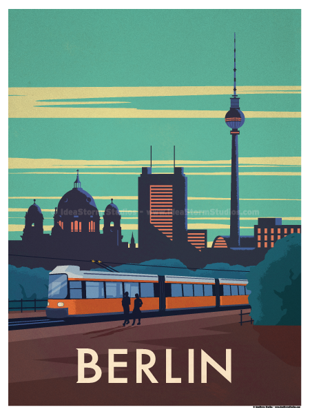 Image of Berlin City Poster