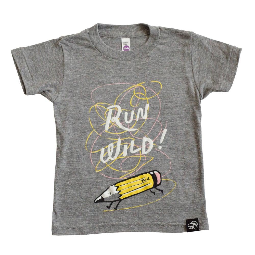 Image of RUN WILD babies + children's tee