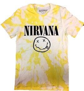 "Image of Rock Hard Distressed ""Nirvana"" Short Sleeve T"