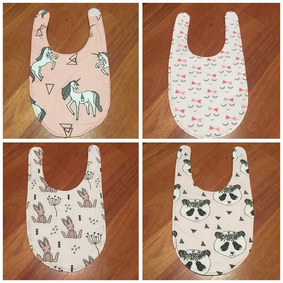 Image of 100% Organic Cotton large bibs