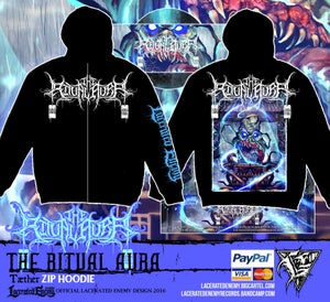 """Image of THE RITUAL AURA - """"Tæther"""" - ZIP hoodie"""