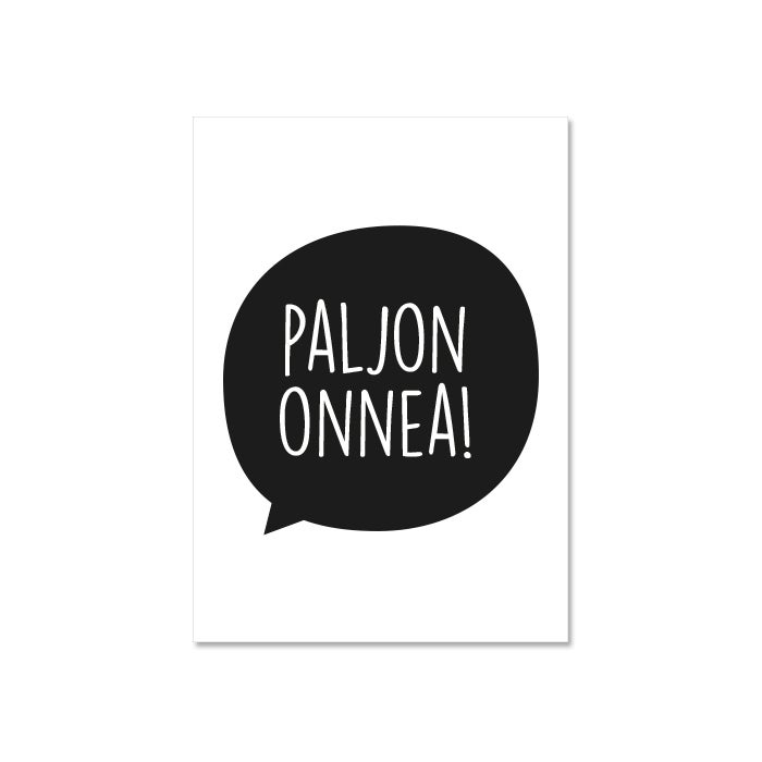 Image of Paljon onnea -kortti, Design by Ilona