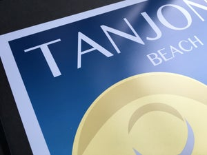 Image of Tanjong Beach Vintage-Style Travel Poster