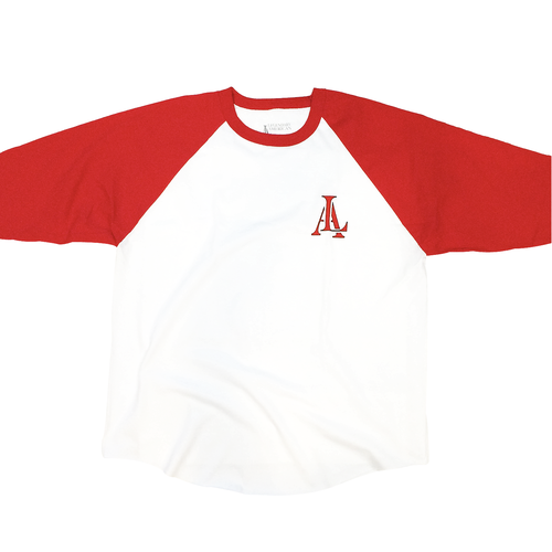 Image of Legendary American 76 raglan white and red