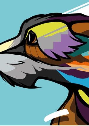 Image of Irish Wolfhound A3 Art Print