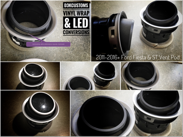 Image of Ford Fiesta 2011+ Vent Gauge Pod kit (52mm or 60mm)