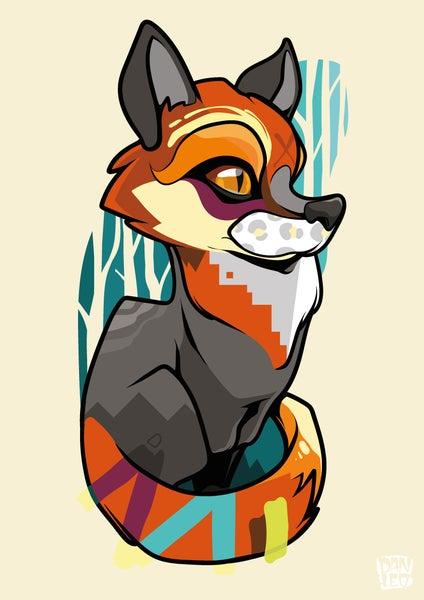Image of Fox Cub A3 Art Print