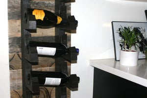Image of Wall mounted wine rack, Stackable wine rack hangs on wall holds 12 bottles