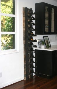 Image of WALL MOUNTED WINE RACK, STACKABLE WINE RACK HANGS ON WALL HOLDS 7 BOTTLES