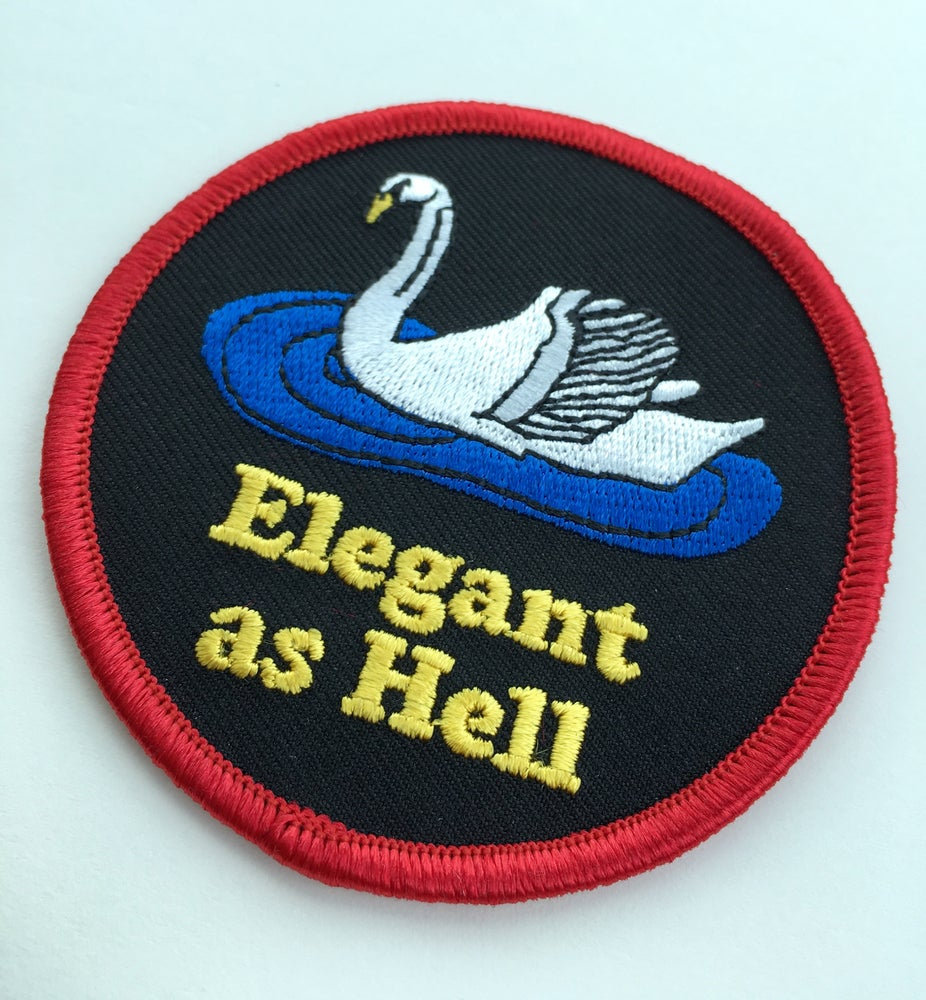 Image of Elegant as Hell-iron on patch