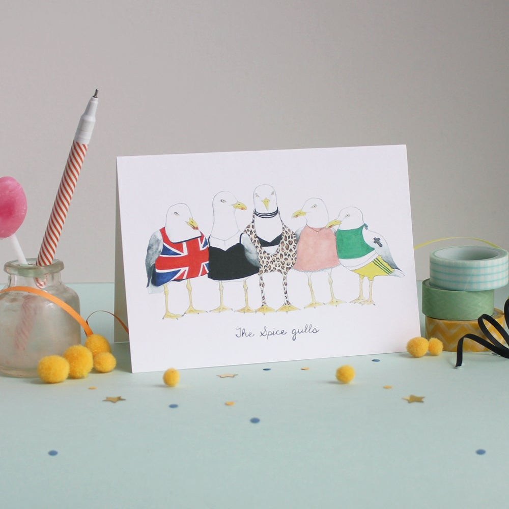 Image of Spice Gulls Greetings Card