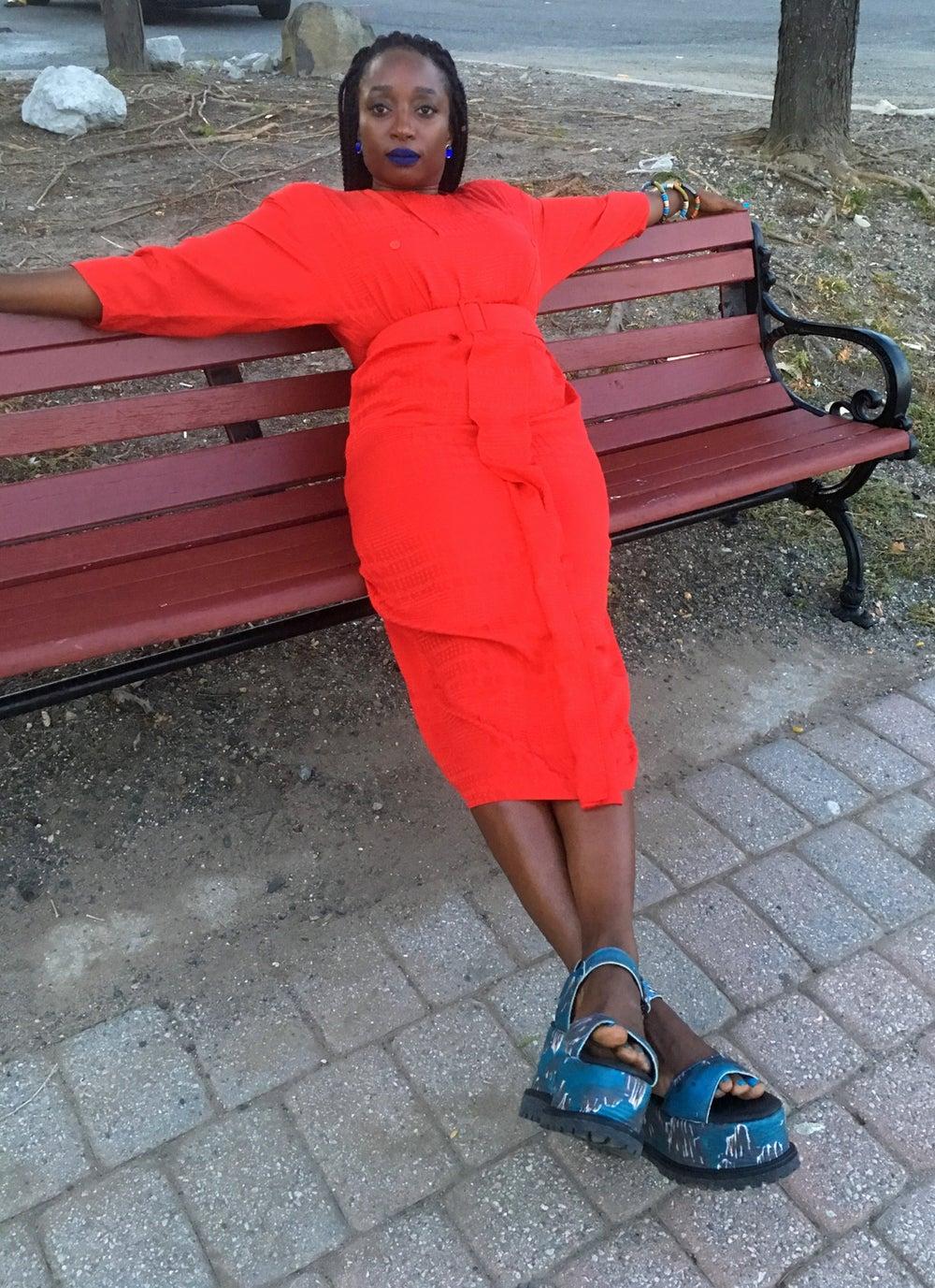 Image of 80s Silk Dress