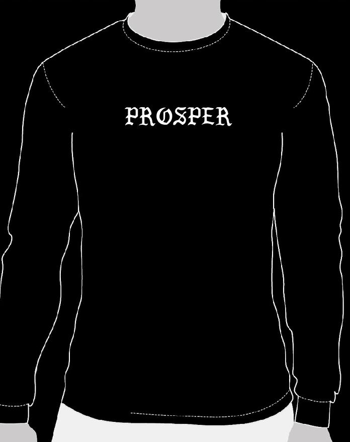 Image of Aurelion Prosper Crewneck (White on black)