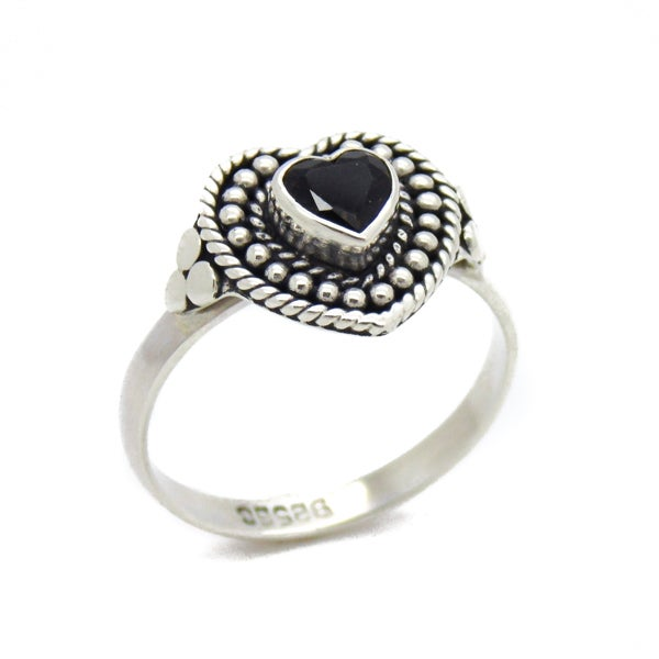 Image of Sterling Silver & Smokey Quartz Love Spell Ring