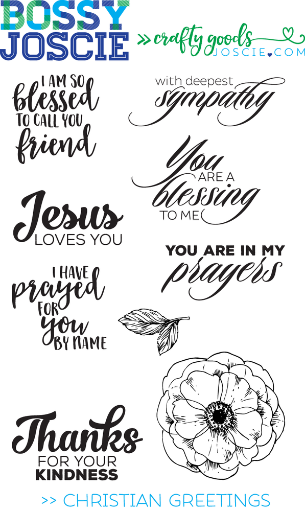 Image of Clear Stamps: Christian Greetings