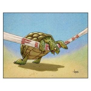 "Image of ""Finished at the Finish"" Tortoise Print"