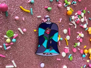 Image of Pin Seconds Sale: Stained Glass Rose Pin v. 2