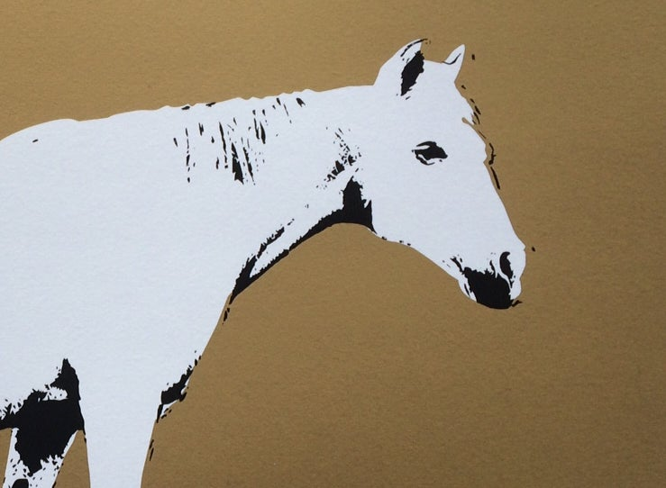 Image of Horse on paper 3rd edition - Screenprint