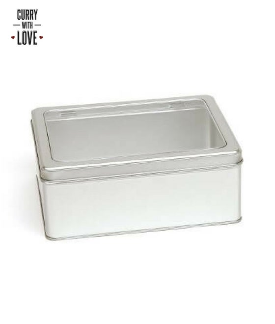 Image of Gift Tin with Window Hinged Lid