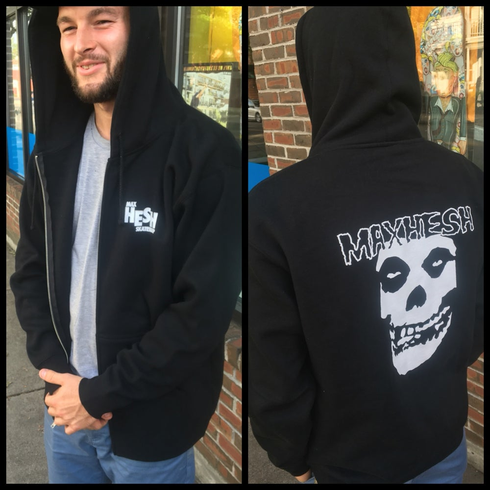 Image of Max Hesh X Misfits X Black Flag Tribute Zip Hoodie