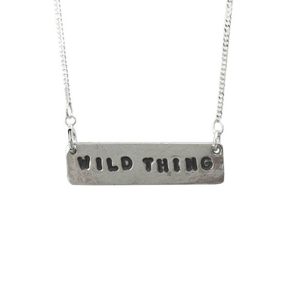 Image of Stamped Necklace Wild Thing