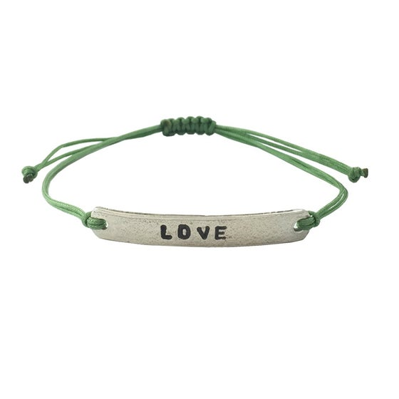 Image of Stamped Bracelet Love