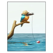 "Image of ""Gone Fishin'"" Kingfisher Print"