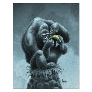 "Image of ""Be Strong, Be Brave"" Gorilla Print"