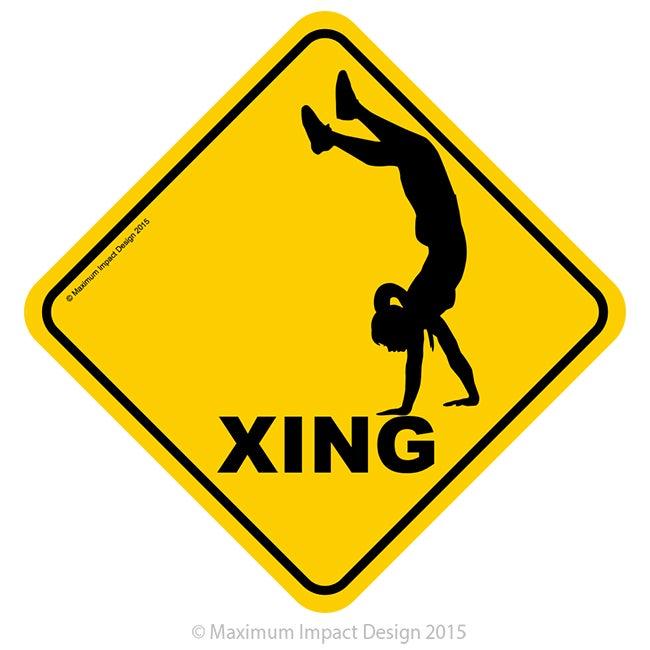 "Image of Handstand Signage 18"" x 18"""