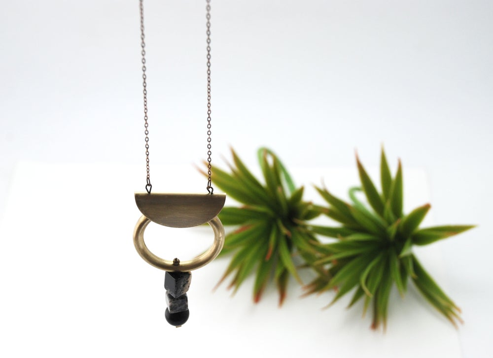 Image of Brass + Amethyst Necklace