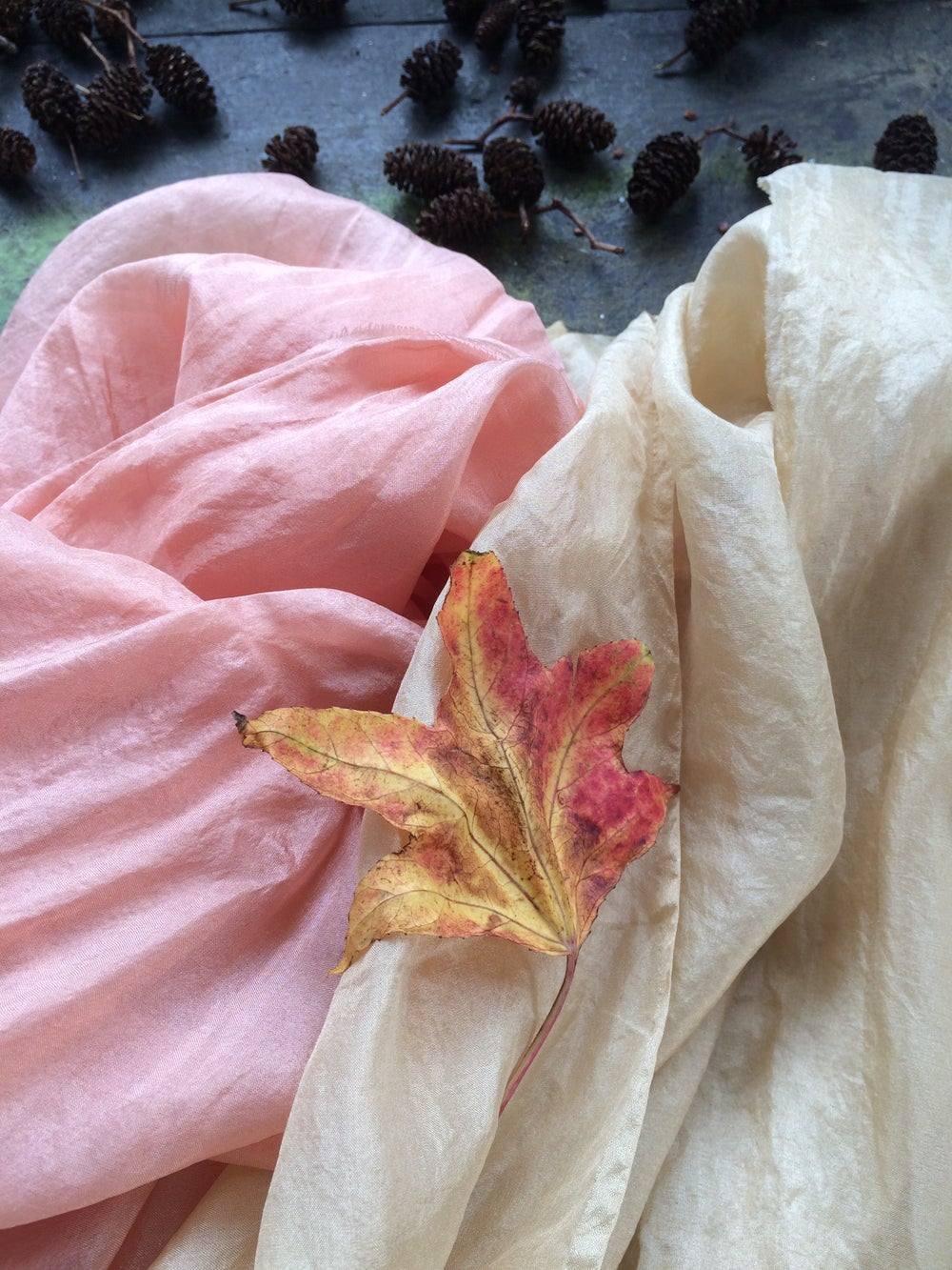 Image of Naturally dyed seasonal play silks - Autumn